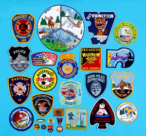 Custom made embroidered patches